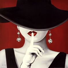 Haute Chapeau Rouge I by Marco Fabiano art print