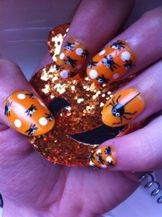 spider Halloween  - Nail Art Gallery by www.nailsmag.com #nailart