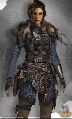 life stories Hervor was among the most famous Viking shieldmaidens. Viking shieldmaiden was the female warrior who was willing to sail their ship through the high ocean and fought just li Fantasy Armor, Medieval Fantasy, Character Portraits, Character Outfits, Vikings Lagertha, Viking Costume, Viking Cosplay, Viking Dress, Viking Men