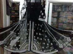 Lucknowi Chikan Anarkali Shadow Work Hand Emboridery[*Sfq*]. Chikankari Suits, Kurta Designs Women, Anarkali, Handicraft, Kurti, Victorian, Lady, Dresses, Style