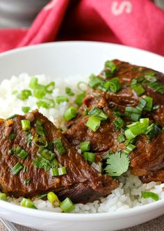 These Pressure Cooker Asian-Style Boneless Short Ribs are so tender and intensely flavored.
