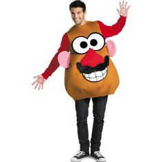 Cool Theme Halloween Costumes: Funny Costumes - Mrs / Mr Potato Head Costume just added. Theme Halloween, Adult Halloween, Spirit Halloween, Halloween Costumes, Halloween Ideas, Halloween Birthday, Couple Halloween, Birthday Parties, Halloween Halloween