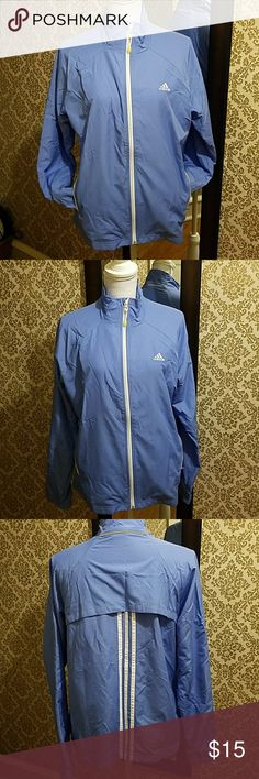 Adidas lightweight windbreaker Pretty periwinkle color New condition, never worn adidas Jackets & Coats