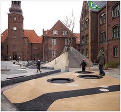 Playground at Guldberg skole. Denmark.