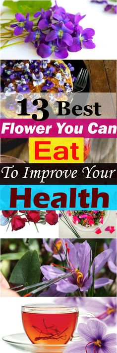 These 13 great edible flowers not only look great but also taste good and rich in nutrients. Start using them to add color and flavor to your food and improve your health.