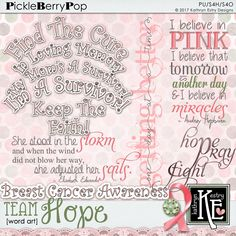 Team Hope Word Art :: Coordinates with the entire Team Hope Digital Scrapbooking Collection by Kathryn Estry @ PickleberryPop $3.99