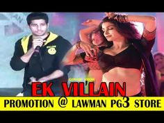 EK Villain Movie Team Visits Lawman Pg3 Store For Promotion