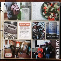 """Like the backpack picture with the white transparent journaling block. Love the dishwasher basket picture and the """"schooled"""" card."""