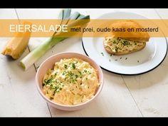 Eiersalade met prei, oude kaas en mosterd - Keuken♥Liefde