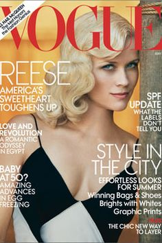 May 2011 Vogue- Love Reese's 40s hair.