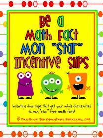 Math Fact Fluency In My Classroom {Incentive Freebie}