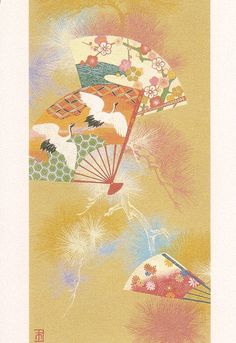 Traditional Japanese paintings.
