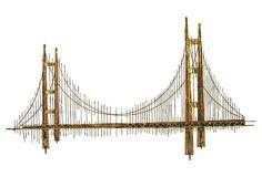 golden gate bridge metal wall sculpture and wall sculptures on pinterest. Black Bedroom Furniture Sets. Home Design Ideas