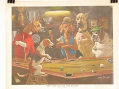 Hey, I found this really awesome Etsy listing at https://www.etsy.com/listing/230722765/original-vintage-art-sarnoff-dogs