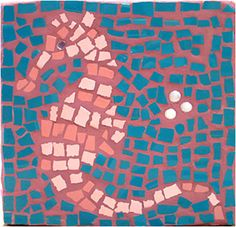 Students view examples of mosaics from all around the world and then are given the opportunity to create their own mini-mosaic using kid safe materials.