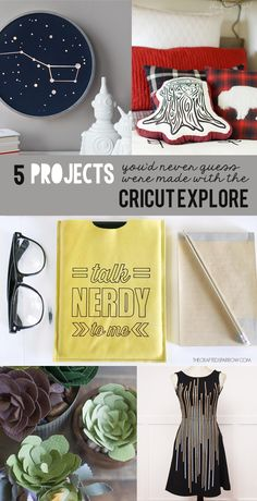 5 Cricut Explore Projects from My Sister's Suitcase
