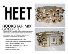 #HEET ROCKSTAR MIX GOLDFOIL 15% off at shopHEET.com w/ promo code #LAHEET #HEETnation #shopHEET #Fashion #FashionWeek #Swarovksi #jewelry #crystal #leather #snakeskin #calfhide #animalprint #accessories #NYFW #HEET #bracelet #stack #leather #strap #stack #stacked #edgy #rockerchic #bohemian #boho #contemporary #modern #modernboho #rocknroll #rocknrollfashion #gold #goldfoil #metal #bronze #silver #platinum
