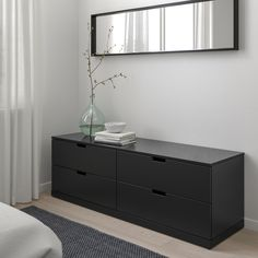 IKEA - NORDLI, dresser, anthracite, You can use one modular chest of drawers or combine several to get a storage solution that perfectly suits your space. You can easily create your own personal design by mixing chests of different colors. Ikea Chest Of Drawers, 8 Drawer Dresser, Malm Dresser, Nordli Ikea, Ikea Family, Painted Drawers, Design Moderne, Drawer Fronts, Particle Board