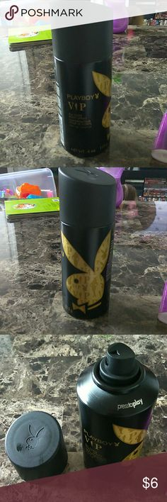 Playboy VIP Mens All Over body spray Brand new only sprayed once to test, all over body spray by Playboy. It's the VIP version. 4oz net wt. Just like axe except for it's Playboy brand. Great scent, just have way too many! Playboy Other