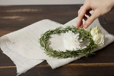 DIY Wednesday: Rosemary & Floral Bridal Wreath PW1_076 – Project Wedding Blog
