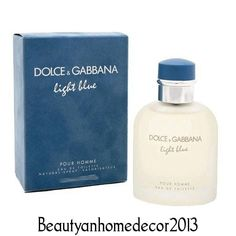 Light Blue by Dolce & Gabbana 6.8 oz EDT Cologne Spray for Men New in Box #DolceGabbana
