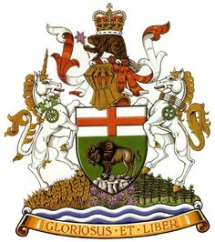 Manitoba -coat-of-arms like the horses too much colour and don't like the beaver on top but the style is great Medieval, Canadian Things, Canadian Flags, Happy Canada Day, Canadian History, O Canada, Family Crest, Crests, Family Traditions