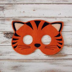 Tiger Mask - Felt - Kids Mask - Jungle - Costume - Animal Mask - Halloween - Pretend Play