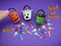 tutorial: miniature Halloween buckets and lollipops