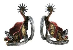 Amazon.com: Western Spurs And Horseshoe Bookends Cowboy: Home & Kitchen