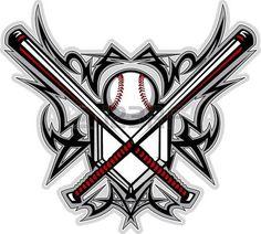 Illustration of Baseball Softball Bats Tribal Graphic Image vector art, clipart and stock vectors. Baseball Scores, Baseball Pitching, Chicago Cubs Baseball, Reds Baseball, Baseball Stuff, Baseball Pants, Baseball Live, Cincinnati Baseball, Baseball Injuries