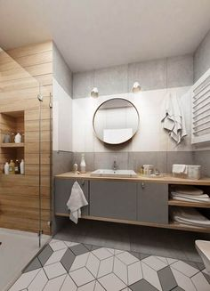 Interior Of Bathroom Design Beautiful Tiny Bathroom Decor – Flog Small Bathroom Interior, Bathroom Furniture Design, Grey Bathroom Tiles, Bathroom Layout, Modern Bathroom Design, Home Interior, Master Bathroom, Vanity Design, Bathroom Inspiration