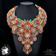 beadweaving, necklace, soutache | author: Zuzana Hampelova Valesova (Lillian Bann) | www.z-art-eshop.cz | http://www.facebook.com/pages/Z-ART/539656212733510