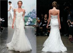 Free shipping online sales New Monique Lhuillier fall 2012 bridal gown, wedding dresses Emma