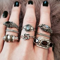 Shop Dixi vintage sterling silver bohemian, gypsy stacking rings available at http://www.shopdixi.com instagram.com/shopdixi