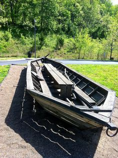 Bateaux like this used to ply the rivers and streams in West Virginia, even the mighty New River. This one is on display at the Sandstone Visitor Center in the New River Gorge National River.