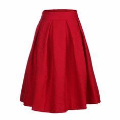 2016 Women Midi Skirt High Waist Skater Tutu Skirts Pleated Summer Style School Skirt Sun saia longas casual stars skirt