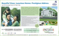 #Saket - #BhuSattva : #Beautiful Views. Luxurious #Homes. #Prestigious Address. Just 30 minutes from #Hitechcity Live Your Dream: http://ow.ly/mP7zv Or Call: 090 10 100083  For any assistance please Hit Like -> www.facebook.com/saketgroups www.facebook.com/saketbhusattva