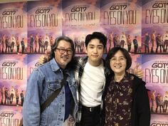 jinyoung and marks parents