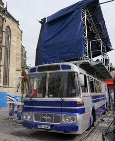 BUSportal - Přestavba autobusu ŠL 11 z roku 1977 jako 'stage' pro hudební produkce