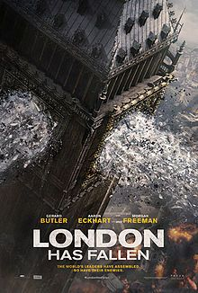 London Has Fallen (March 4, 2015) a action thriller film and sequel to Olympus Has Fallen (2013) directed by Babak Najafi, written by Creighton Rothenberger, Katrin Benedikt, Chad St. John, Stars: Gerard Butler, Aaron Eckhar, Morgan Freeman, Angela Bassett, Robert Forster, Melissa Leo and others. The British Prime Minister has died mysteriously, a most protected event on Earth attending the funeral by leaders of the Western world turns into a deadly plot to kill these world leaders.