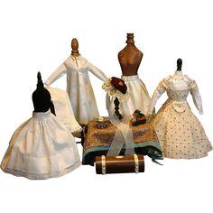 Superb 12 Piece Maison Huret Trousseau Including Mode Enfantine Dress, Underwear and Accessories