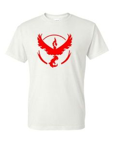 Pokemon Go Gym Team Valor Red Youth Short Sleeve Tee T-Shirt White X Large, Boy's, Size: XL