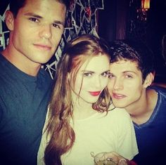 Max Carver (Aiden), Holland Roden (Lydia Martin) & Daniel Sharman (Isaac Lahey) from Teen Wolf