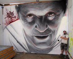 "Artist :"" David 'Gnasher' Nash... ""Silence of the Cans"""