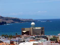 vista del Auditorio Alfredo Kraus de las Palmas de Gran Canaria, que lleva este nombre en honor al tenor nacido en esta isla.