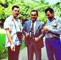 Freddie & Jim with Itami-san in Japan