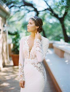 Elegant bridal hair & makeup by Samantha Landis. Berta Bridal gown available at Bridal Boutique. Styling by Lindsey Zamora. Photo by Ben Q. Photography. #wedding #beauty #hair #makeup