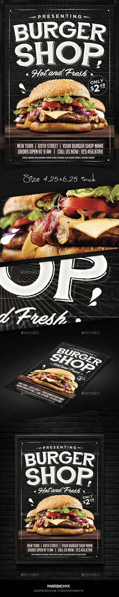 Burger Flyer  — PSD Template #hot dog #happy hour • Download ➝ https://graphicriver.net/item/burger-flyer/18013173?ref=pxcr