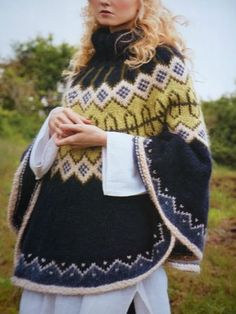 Colorwork Poncho - I usually can't stand ponchos, but something about this has caught my eye.