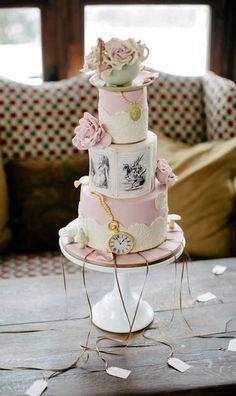 Alice in Wonderland cake idea.